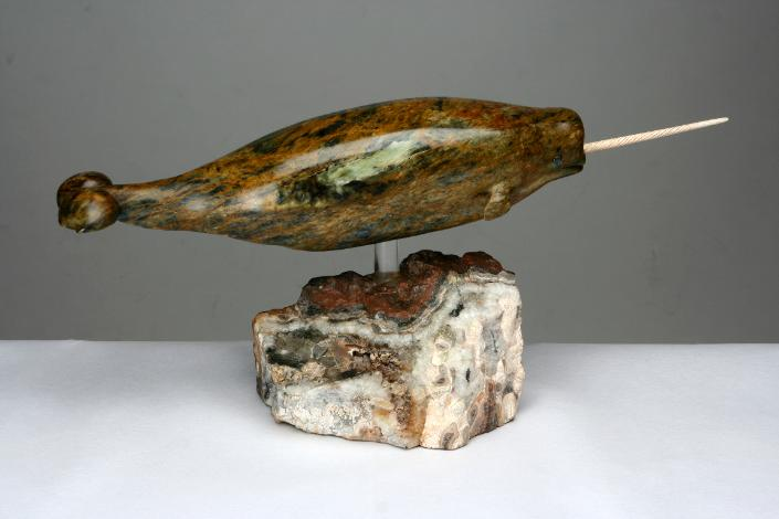 Soapstone Sculpture of a Narwhal